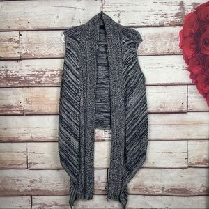 BCBG MaxAzria sleeveless open waterfall cardigan